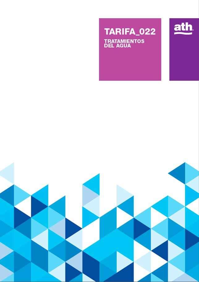 Catálogo ATH tarifa 2018