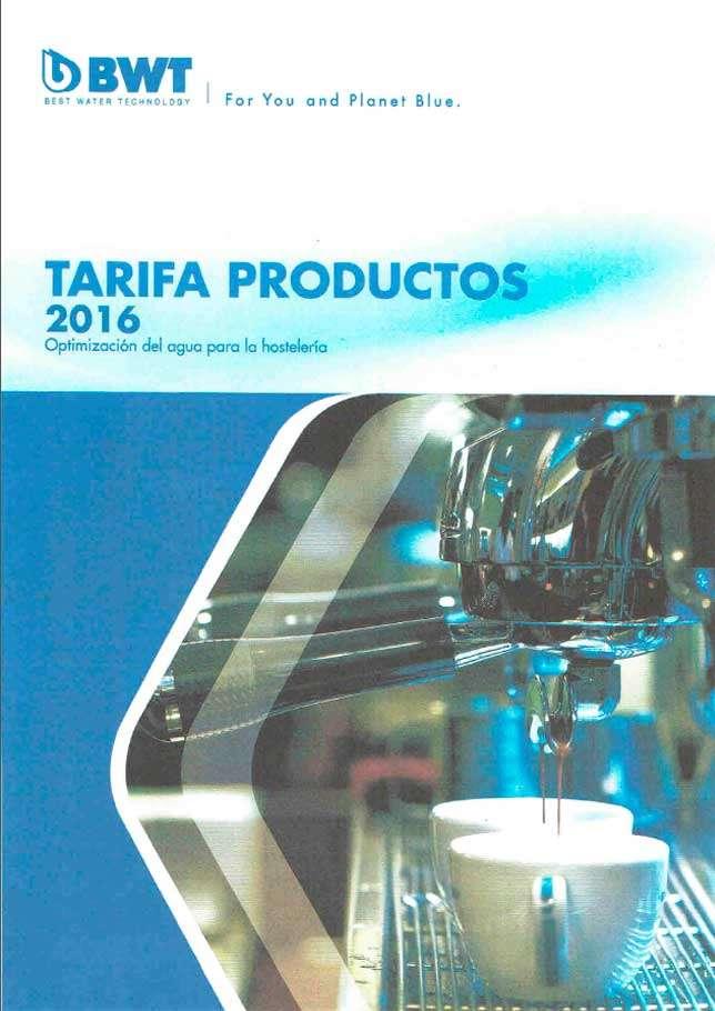 Catálogo BWT tarifa 2016