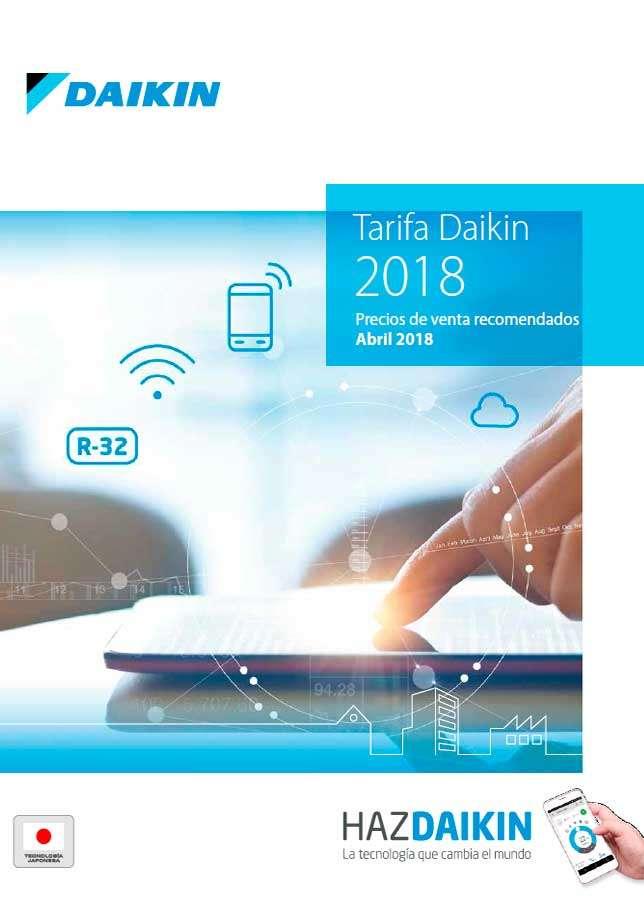 Catálogo Daikin tarifa 2018