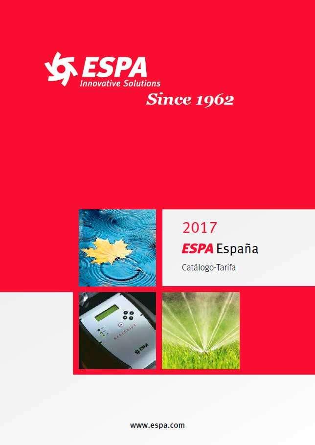Catálogo tarifa ESPA 2017