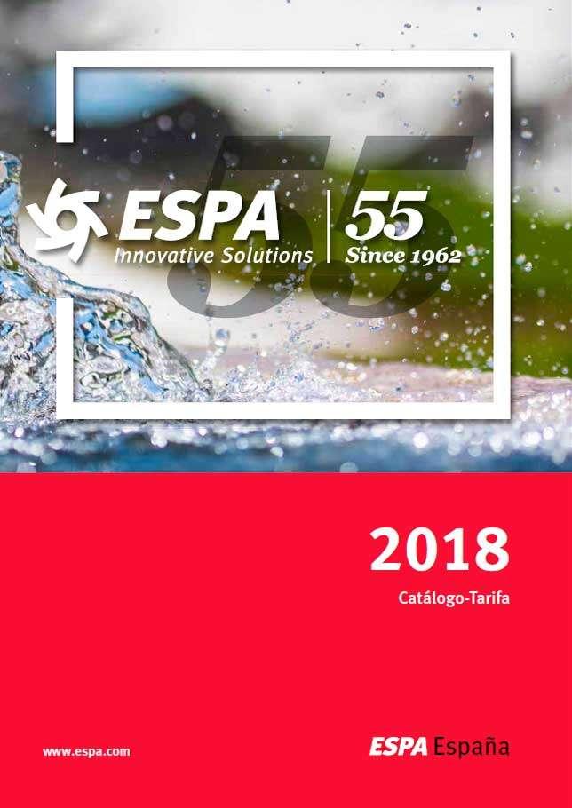 Catálogo tarifa ESPA 2018
