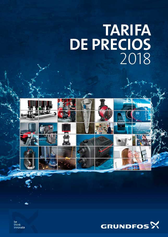 Catálogo tarifa Grundfos 2018
