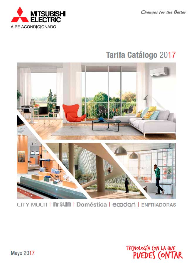 Tarifa Catálogo Mitsubishi Electric 2017