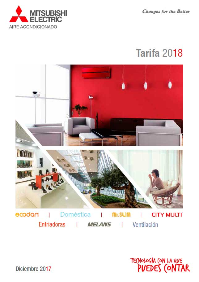 Tarifa Mitsubishi Electric 2018
