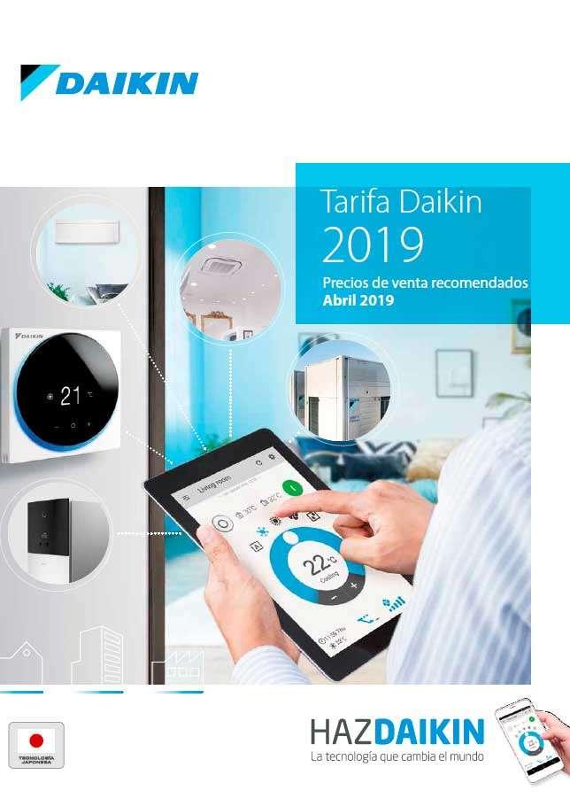 Catálogo Daikin tarifa 2019